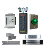 BS-33 Wifi Mobile APP, Card, Code, Card+Code 4in1 Waterproof Access Control + Power Adapter + Exit Button + NW-250 Waterproof Maglock 600 lbs + LB-ZB Bracket