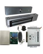 EL-600 Maglock  600 LBs + 12V Adapter Controller NO/NC + Remote Control Kit