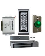 SA-600 Standalone Access control + Power Adapter Controller-NO/NC + Exit Button + 600 lbs Maglock