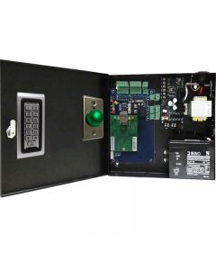 BS-001 SINGLE DOOR TCP/IP ACCESS CONTROL + POWER SUPPLY + 12V BATTERY +  READER +  EXIT BUTTON