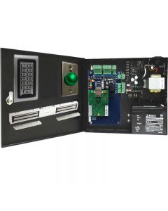 BS-001DB SINGLE DOOR TCP/IP ACCESS CONTROL+POWER SUPPLY+12V BATTERY+ READER+EXIT BUTTON+1 X DOUBLE DOOR 600 LBS EACH MAGLOCK