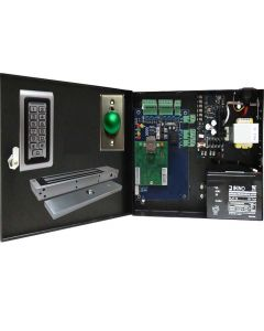 BS-001M SINGLE DOOR TCP/IP ACCESS CONTROL+POWER SUPPLY+12V BATTERY+ READER+EXIT BUTTON+1 X 600 LBS MAGLOCK
