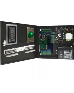BS-002DB 2-DOORS TCP/IP ACCESS CONTROL+POWER SUPPLY+12V BATTERY+2 READERS+2 EXIT BUTTONS+2 x DOUBLE DOOR 600 LBs EACH MAGLOCKS