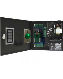 BS-002 2-DOORS TCP/IP ACCESS CONTROL + POWER SUPPLY + 12V BATTERY + 2 READERS + 2 Exit Buttons