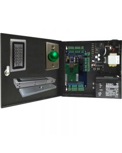 BS-002M 2-DOORS TCP/IP ACCESS CONTROL+POWER SUPPLY+12V BATTERY+2 READERS+2 EXIT BUTTONS+2 x 600 LBs MAGLOCKS