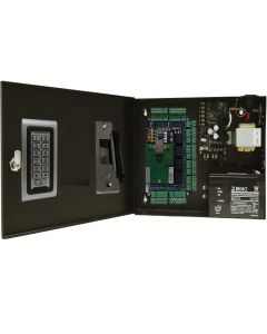 BS-004S 4-DOORS TCP/IP ACCESS CONTROL+POWER SUPPLY+12V BATTERY+4 READERS+4 Electric Strikes