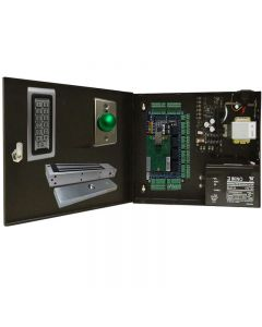 BS-004M 4-DOORS TCP/IP ACCESS CONTROL+POWER SUPPLY+12V BATTERY+4 READERS+4 EXIT BUTTONS+4 x 600 LBs Maglocks