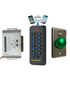 BS-33 Wifi Mobile APP, Card, Code, Card+Code 4in1 Waterproof Access Control + Power Adapter + Exit Button