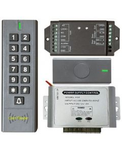 BS-SK7 Wireless Keypad & Card Reader Access Control System, IP66 + Wireless Exit Button + 12V DC Power Adapter