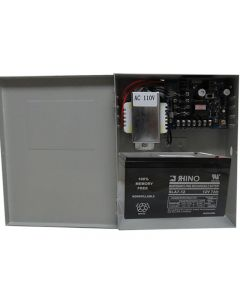 BS-Z-PS12 POWER ADAPTER CASE CONTROLLER WITH NO/NC + BACK UP 12V BATTERY