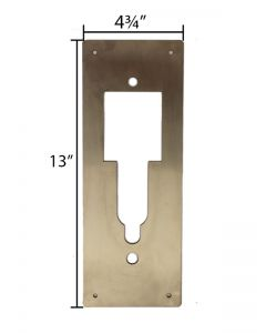 Door Cover Plate -- Stainless Steel material - Door Guard