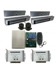 EB-19-2D Two Doors Remote Control + EL-600 MAGLOCK 600 LBS + 12V ADAPTER CONTROLLER NO/NC/COM  KIT + Extra Remote Control