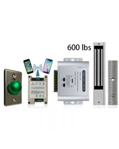 G1  Wifi Module Smart Phone APP Remote Controlled + Power Adapter + Exit Button + 600 lbs Maglock
