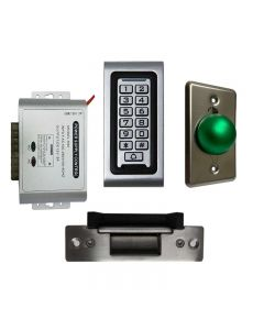 SA-600 Standalone Access control + Power Adapter Controller-NO/NC + Exit Button + Electric Strike
