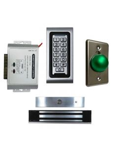 SA-600 Standalone Access control + Power Adapter Controller-NO/NC + Exit Button + NW-250 Waterproof 600 lbs Maglock