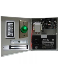 SA-600 Standalone Access control + Power Adapter Case Controller-NO#NC + Exit Button + 600 lbs Maglock