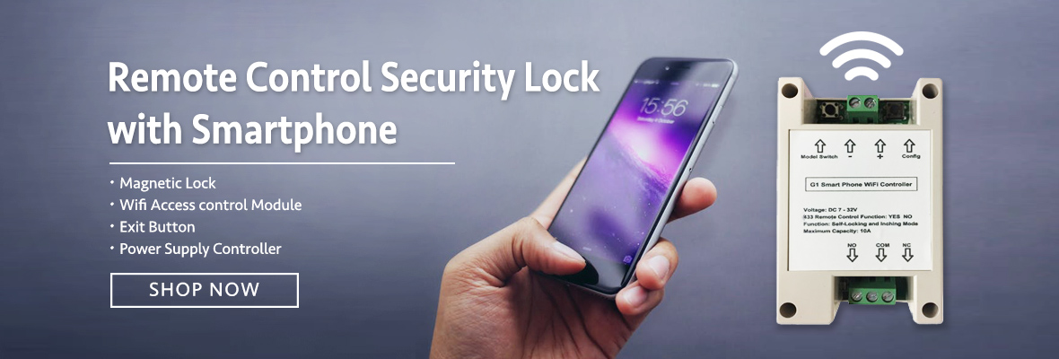 Smartphone controlled security lock
