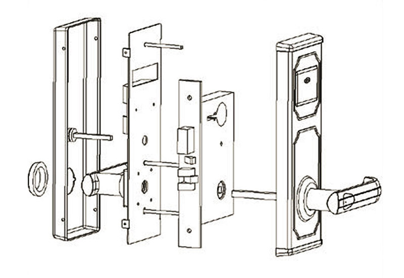 BS-201 Mortise Key Card Hotel Lock